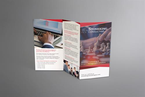Brochure mockup made for Stoneking Consulting.