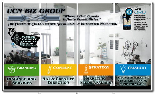 Branding - Content - Strategy - Creativity (See our Tenets at https://www.ucnbizgroup.com/marketing-integration)