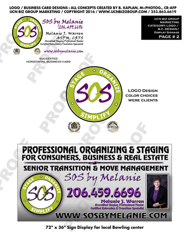 Logo's, Business Cards, Banners, & Sign Displays also website graphics.