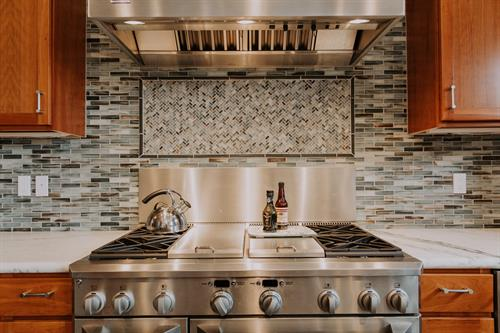 Tile Backsplash, Marble Countertop
