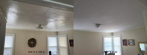 Spanaway ceiling drywall and texture damage repair