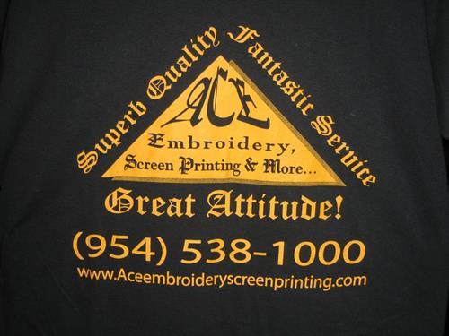 Screen Print on T Shirts.