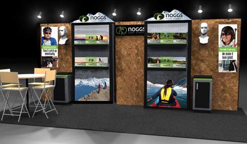 Noggs Sunglasses Tradeshow Booth