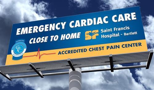 Saint Francis Hospital-Bartlett Cardiac Care Billboard