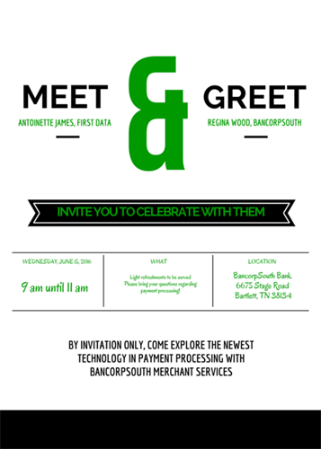 Upcoming Meet & Greet on June 15, 2016