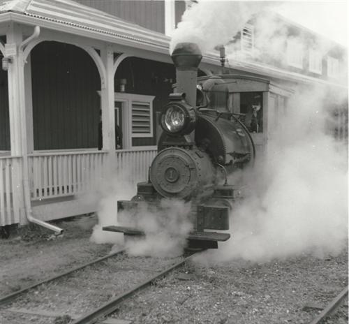 Engine No. 1 Under Steam - Departing the Depot