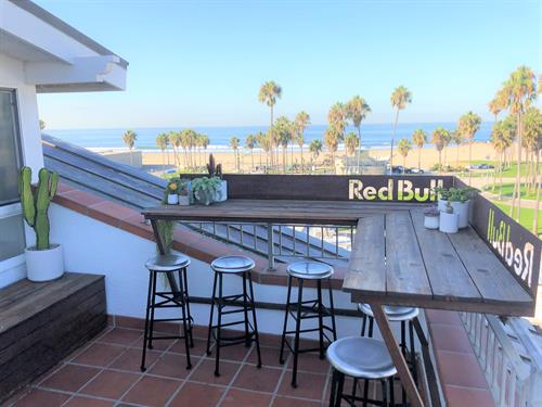 Red Bull Dogtown Suite's Patio over Windward & Venice Beach