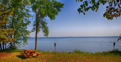 Enjoy the great views in our lake shore cabins.