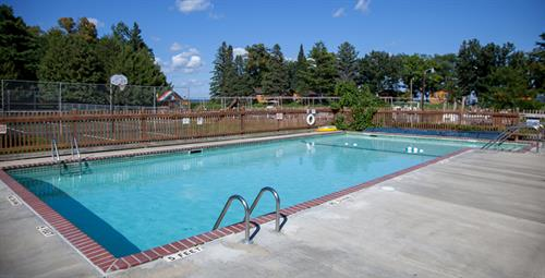 Cool off in our pool on a hot day or relax in the hot tub