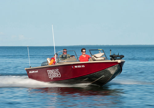 Polarcraft Kodiak rental boat 150 HP
