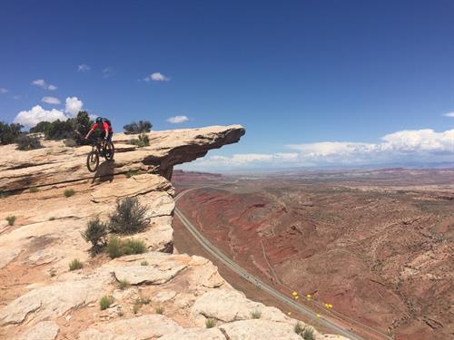 Taylor Nye (Paul's son) riding at Moab