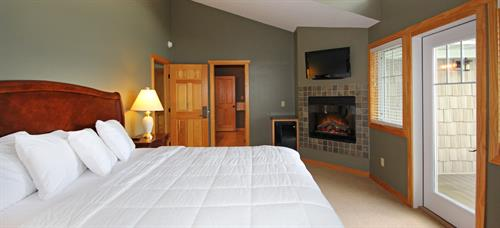 Interior photos of our Twin Homes (featuring three bedrooms).