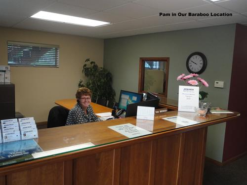 Pam in Our Baraboo Office
