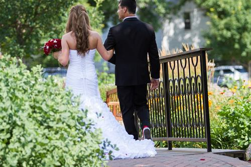 Central Gardens is a beautiful venue for weddings.