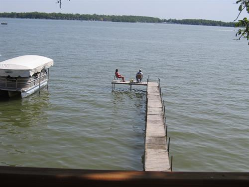 Private dock has boat lift available