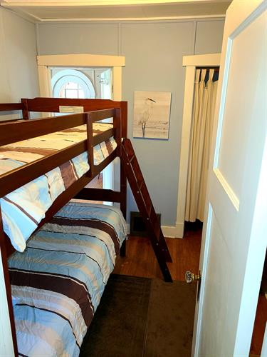 Bedroom with twin bunk beds