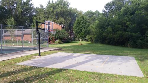 Basketball court (tennis court is next to it)