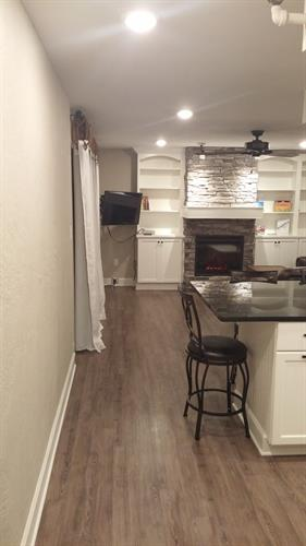 Looking into kitchen/living room