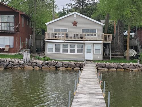Lakeside View of Cabin from the Dock