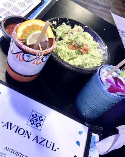Drinks and table side Guacamole
