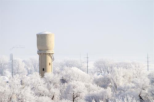 Pipestone's Historic Concrete Water Tower (J. Carrow)