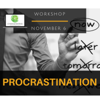 Workshop: Procrastination  ** Limited seats available