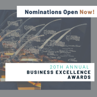 Nominations OPEN Sept 15th - Oct 31st - Business Excellence Awards
