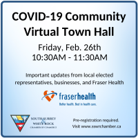 COVID-19 Virtual Town Hall for South Surrey & White Rock