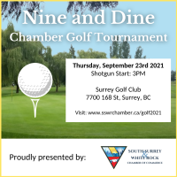 2021 Chamber Nine and Dine Golf Banquet (Dinner Tickets Only)