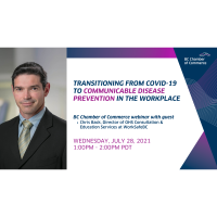 Webinar: Transitioning from COVID-19 to Communicable Disease Prevention in the Workplace
