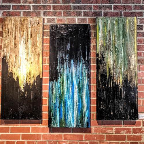 Artist Robin Balderson. Titled, Enigma's Emerge