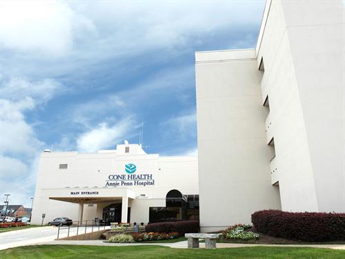 Exterior of Cone Health Annie Penn Hospital
