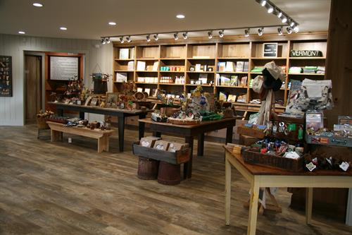 Newly renovated gift shop and products.