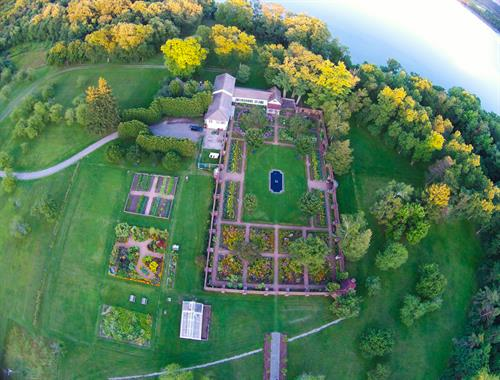 Aerial of the King's Garden