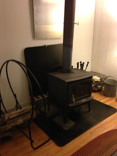 Comfortable wood stove heat
