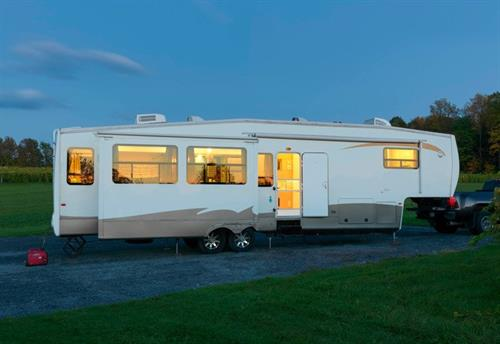 Exterior of the 5th Wheel renovation project