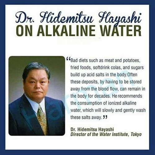 Dr. Hayashi on Kangen water