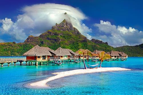 Bora Bora part of the Society Islands of French Polynesia