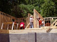 Habitat house under construction