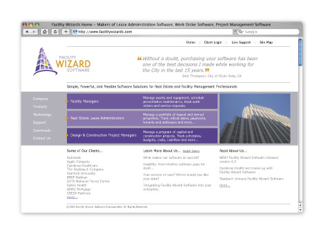Facility Wizard Brand and Web Design