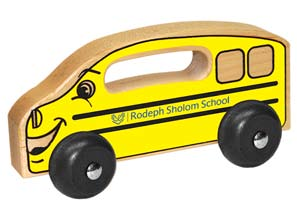 Little wooden school bus for a preschool