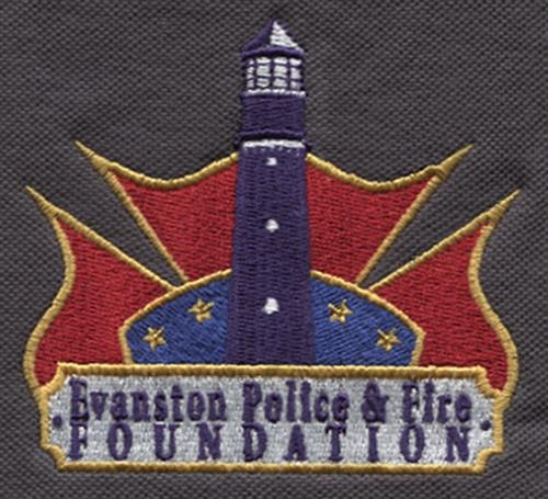 Evanston Police & Fire Foundation logo's clothing