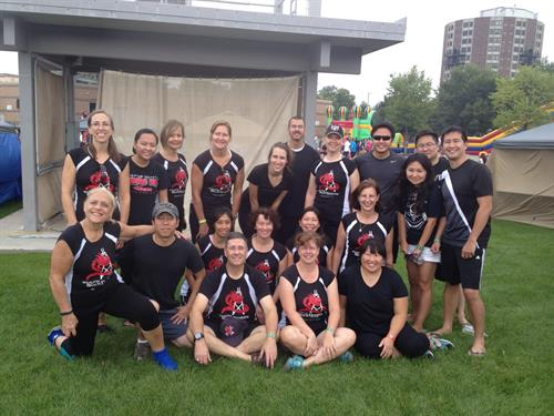 Windy City Dragon Boat Team in their team uniforms