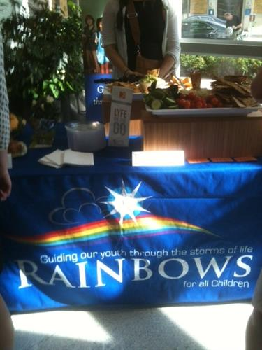 Table wrap for Rainbows for All Children's Grand Opening Celebration