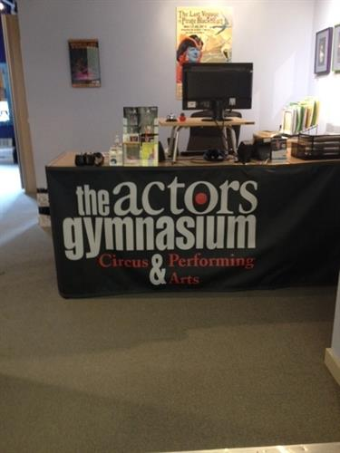 Table wrap for Actors Gymnasium