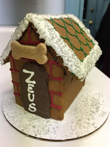 Our very special holiday treat!  A Gingerbread Dog House