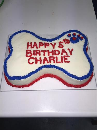 Our exclusive Doggie Birthday Cake! Doesn't your dog deserve one?