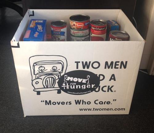 Move For Hunger- helps you donate extra food to those in need before you move.