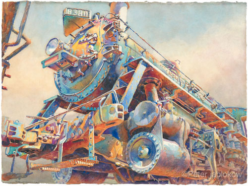 Engine 8380-Nose, watercolor