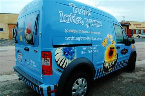 Nothing Bundt Cake Van Wrap